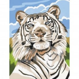 Junior Paint by Numbers White Tiger