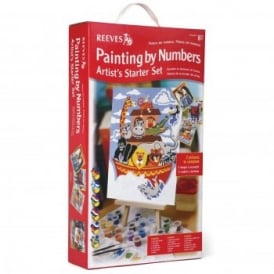 Junior Painting by Numbers Artist's Starter Set Red