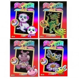 Junior Sequin Art 4 Pack Bundle