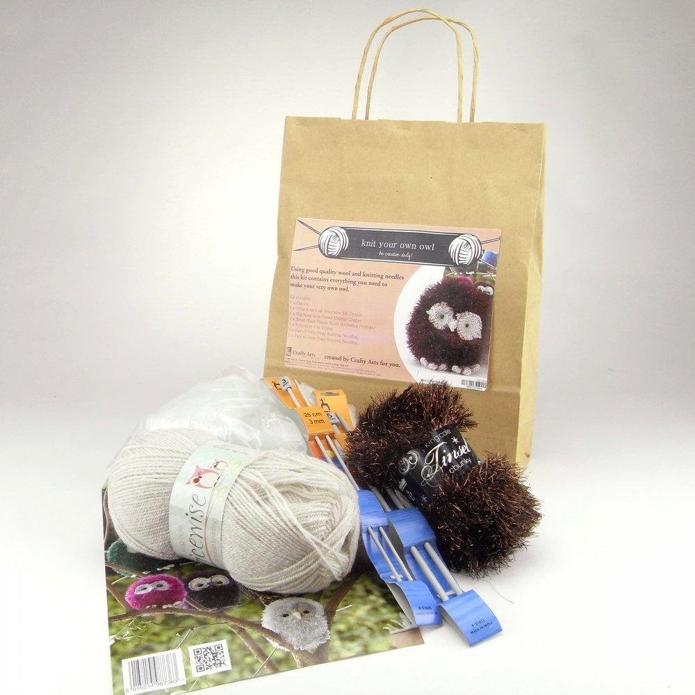 Knitting Kits Uk : Knit your own owl kit crafty arts from craftyarts uk
