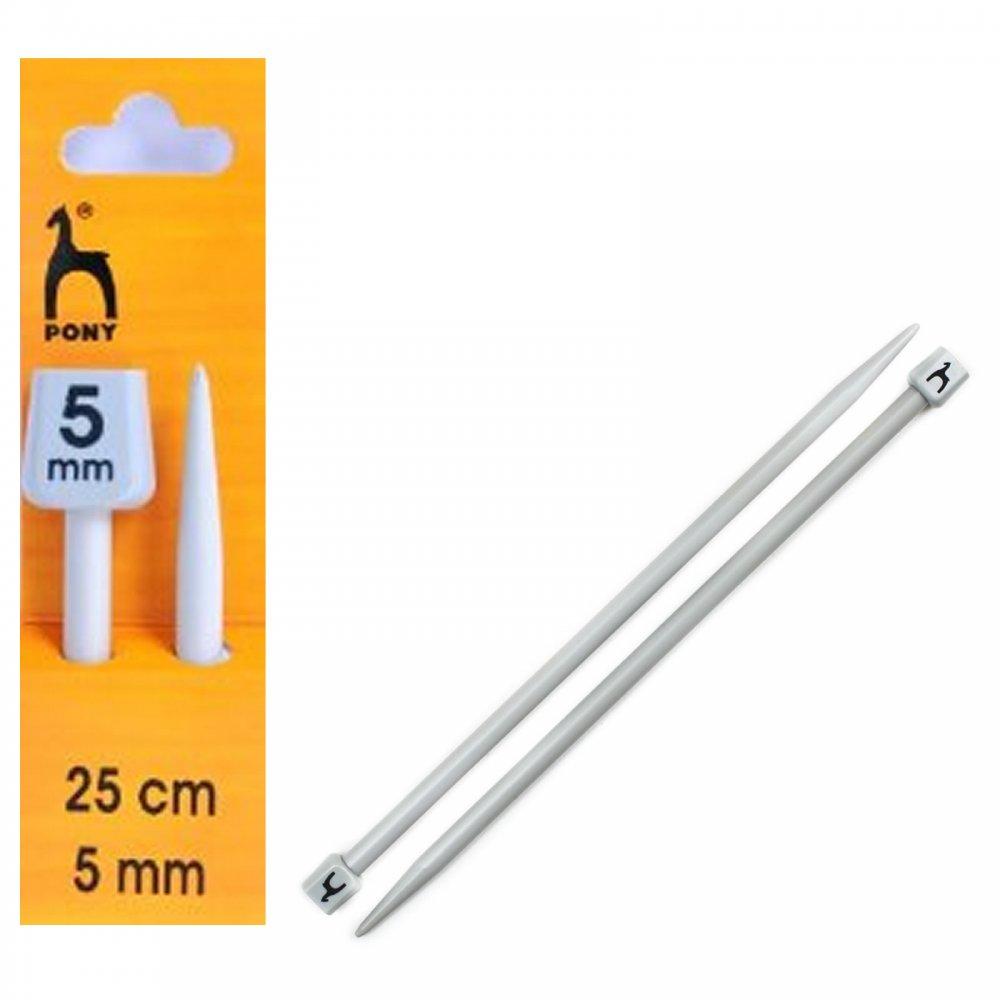 Knitting Needle Size 5mm : Knitting needles size cm mm pony from craftyarts
