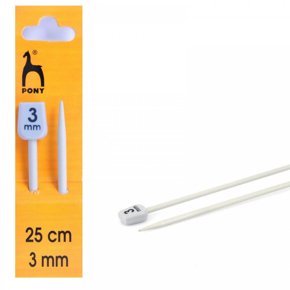 3mm Knitting Needles : Knitting Needles Size 3-3mm - Pony from CraftyArts.co.uk UK