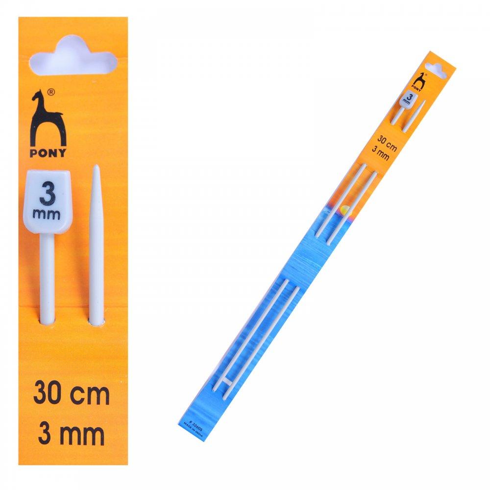 3mm Knitting Needles : Knitting Needles Size 3mmx30cm Length - Pony from CraftyArts.co.uk UK