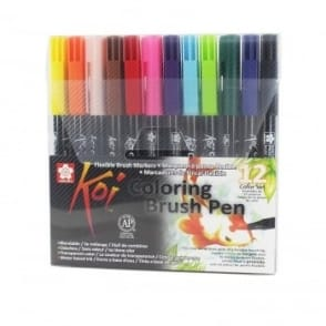 Koi Blendable Brush Pen Colouring Set of 12