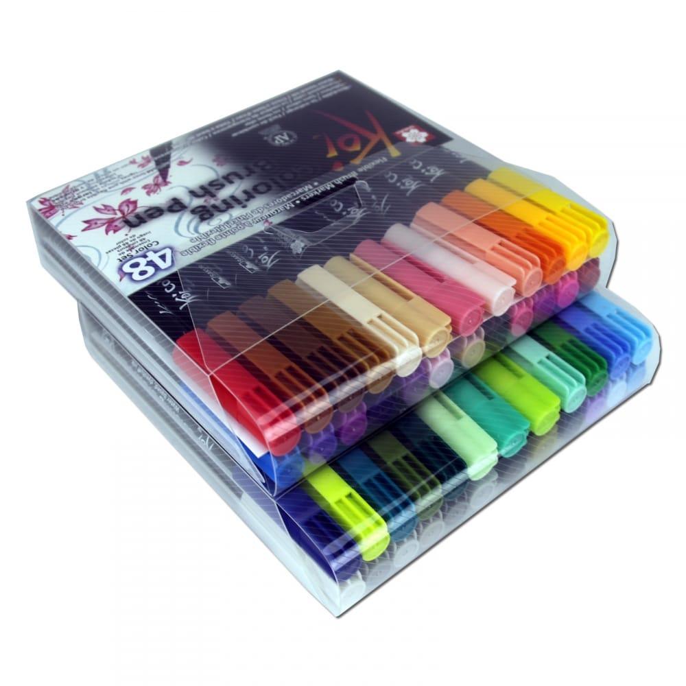 Koi Colouring Brush Pen 48 Set