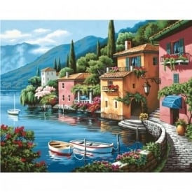 Lakeside Village Paint By Numbers