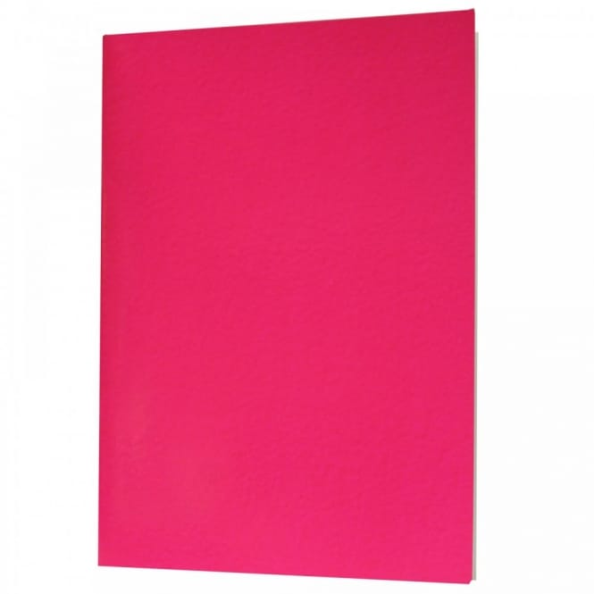 Laminated Stapled Cover A4 Sketchbook - Neon Pink