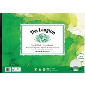 Langton 140lb Gummed Watercolour Pad A3