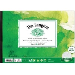 Langton 140lb Gummed Watercolour Pad A4