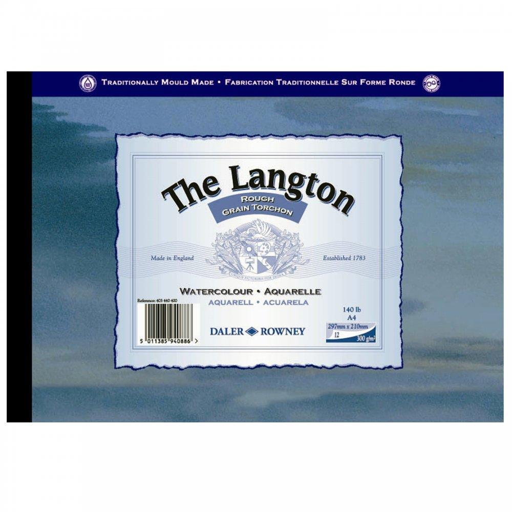 Langton 140lb Gummed Watercolour (Rough) Pad A4* - CraftyArts.co.uk