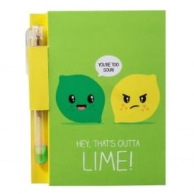Lemon & Lime Sketch & Sniff Note Pad and Pen