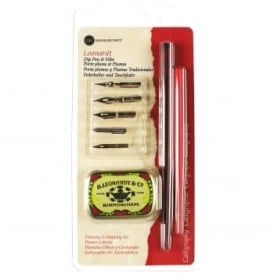 Leonardt Dip Pen & Nibs Drawing & Mapping Set