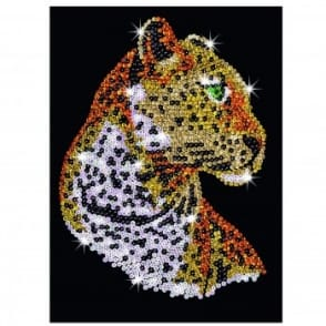 Leopard Sequin Art