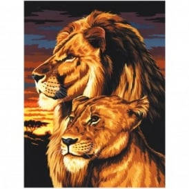 Lion & Lioness Painting By Numbers