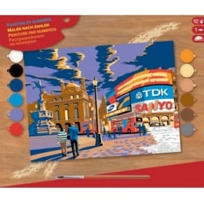 London Picadilly Circus Large Paint By Numbers
