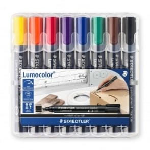 Lumocolour Permanent  Marker Chisel Tip Pack of 8