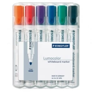 Lumocolour Whiteboard Marker Bullet Tip Pack of 6