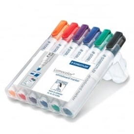 Lumocolour Whiteboard Marker Chisel Tip Pack of 6