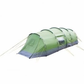 Lunar 6 Man Camping Tent With 2 Side Doors - Green Charcoal*