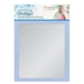 Luxury Snowfall Acetate 10 A4 Sheets