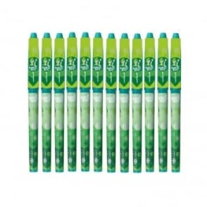 Magic Girl Erasable Rollerball Pen - 12 Pack Green Ink