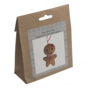 Make Your Own Felt Gingerbread Man Decoration