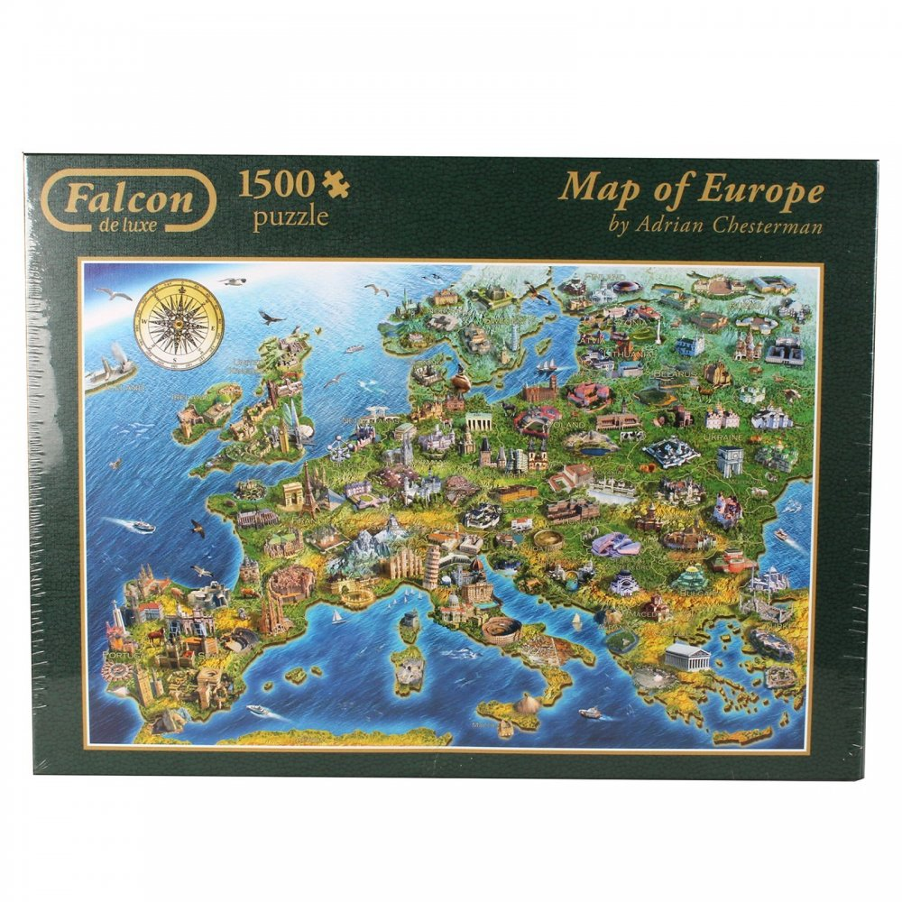 Map Of Uk 1500.Map Of Europe 1500 Piece Puzzle Craftyarts Co Uk
