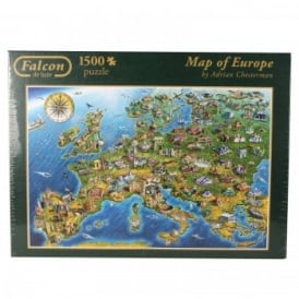 Map Of Europe - 1500 Piece Puzzle