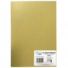 Matt Stapled Cover A4 Sketchbook - Kraft