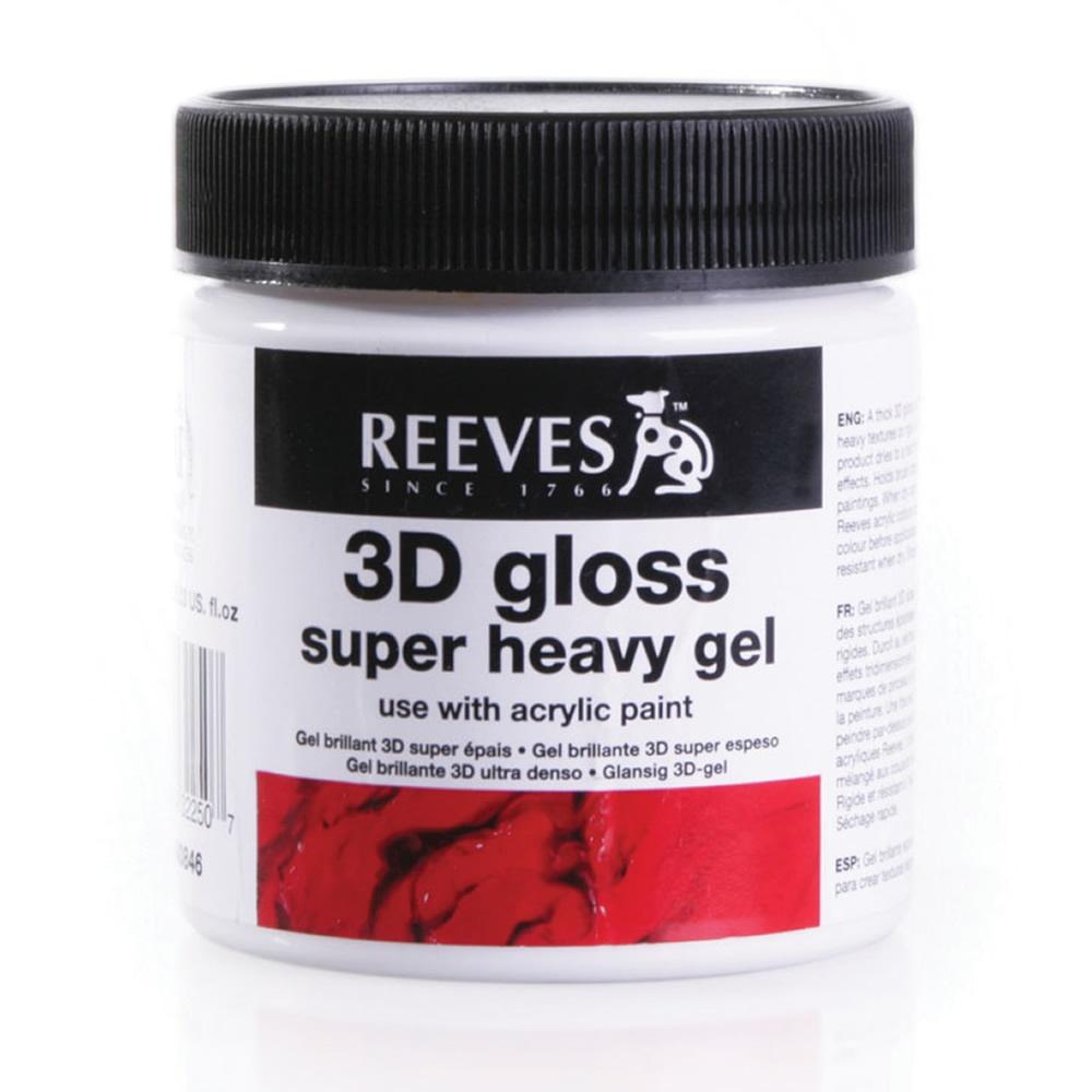 Medium 3d gloss 200ml for Gloss medium for acrylic painting