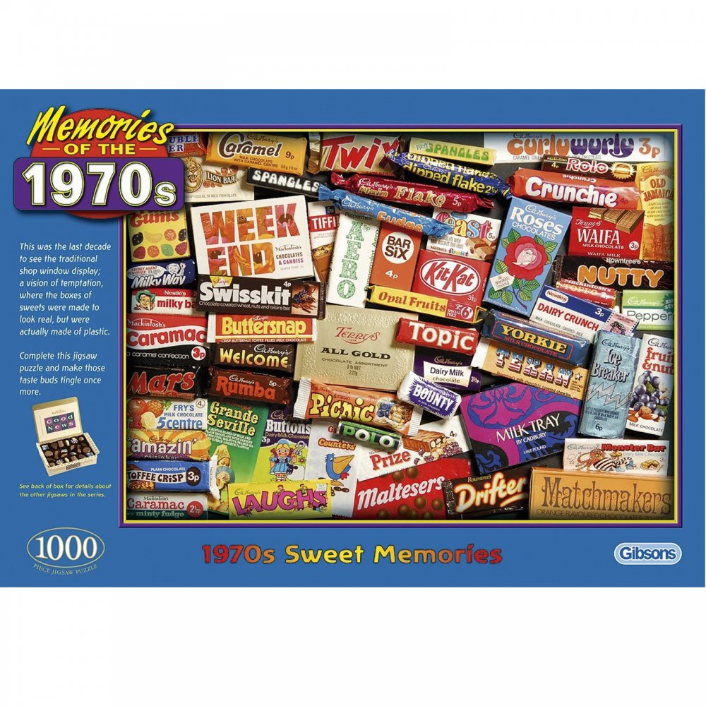 Memories Of The 1970 S Sweet Memories 1000 Piece Puzzle