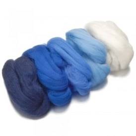 Merino Felting Wool - Blue 50g