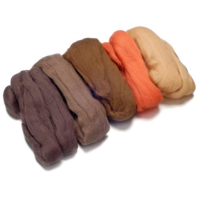 Merino Felting Wool - Brown 50g