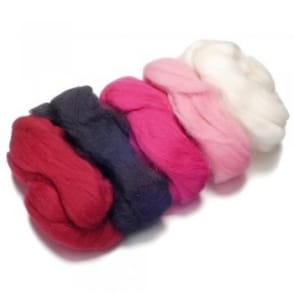 Merino Felting Wool - Rose/Pink 50g