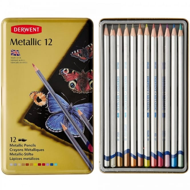 Metallic Water-Soluble Colouring Pencils
