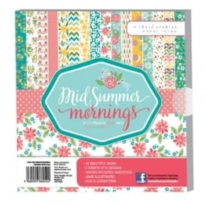 "Mid Summer Mornings 8"" by 8"" Paper Pack - 48 Sheets 160gsm"