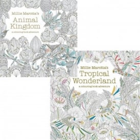 Millie Marotta's Double Pack - Animal Kingdom and Tropical Wonderland - Colouring books