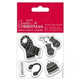 "Mini Clear Stamp Christmas Knitwear ""Cosy and Warm"""