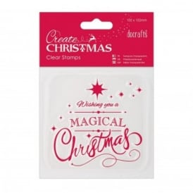 Mini Clear Stamp Magical Christmas