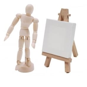 Mini Manikin and Mini Canvas easel Bundle