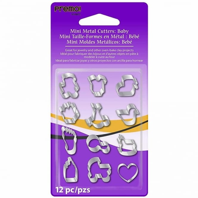 Mini Metal Cutters - Baby Shapes 12 pack