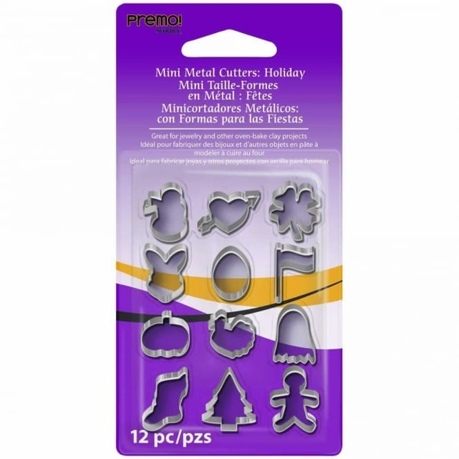 Mini Metal Cutters - Holiday Shapes 12 pack
