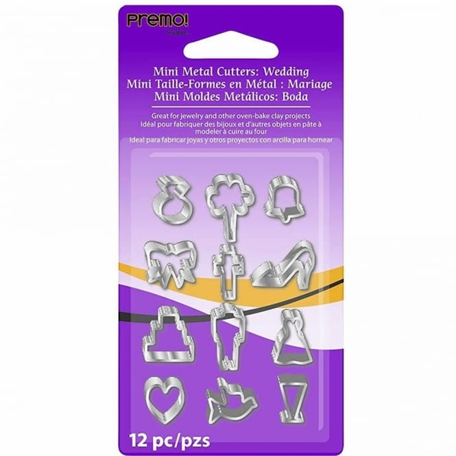 Mini Metal Cutters - Wedding Shapes 12 pack