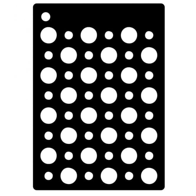 Mini stencil double dots for Home craft expressions decor