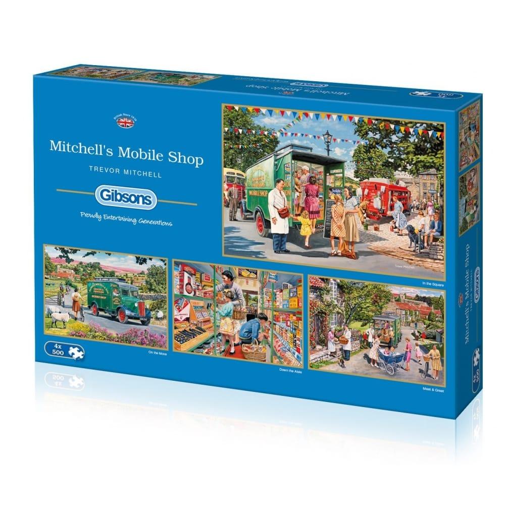 Puzzels Mitchell's Mobile Shop Jigsaw Puzzle 4x500 piece Each Puzzle Measures 34x49cm