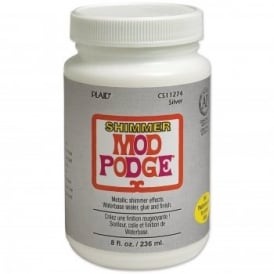 Mod Podge Silver Shimmer 8oz/236ml