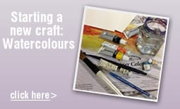 Starting a new craft: Watercolours