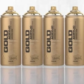 Montana Gold Spray Paint Bundle 4 Cans Gold