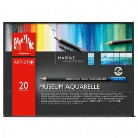Museum Water Soluble Pencils - 20 Box Marine Assortment