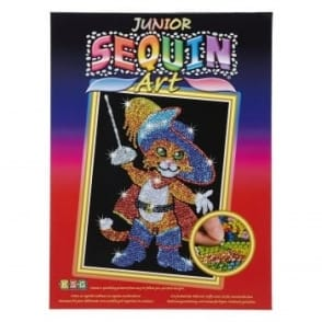 Musketeer Cat Junior Sequin Art*
